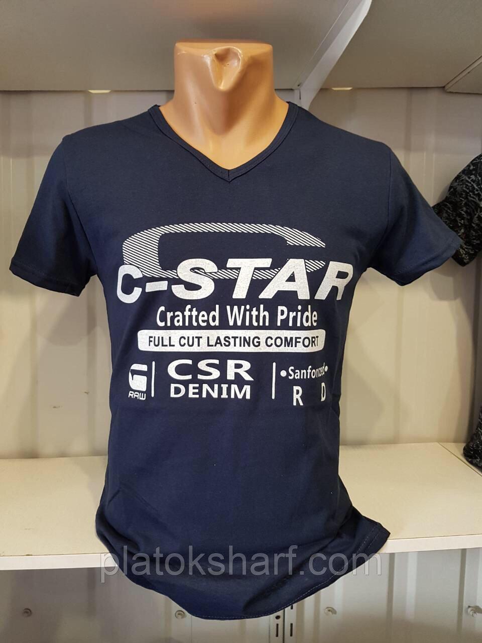 Футболки мужские, цветные хлопковые футболки производства Турции, фото 1