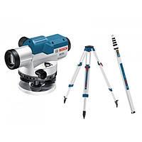 Оптический нивелир Bosch Professional GOL 20 D + штатив BT 160 + линейка GR 500 (0601068402) (0601068402)