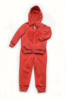 Утепленный спортивный костюм для девочки (коралловый)