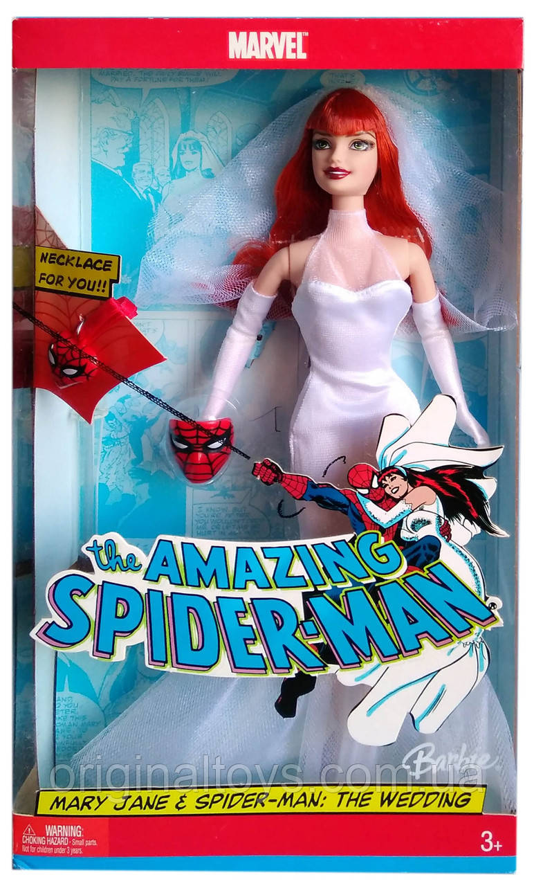 Коллекционная кукла Барби Мэри Джейн Человек-паук Свадьба Barbie Mary Jane & Spiderman Wedding 2005 Mattel
