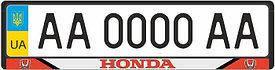 Рамка под номерные знаки HONDA (рамка номера)