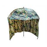 Зонт палатка для рыбалки окно d2.2м SF23817 Дубок Хаки, фото 3