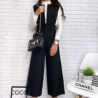 Женский модный комбинезон с широкими брюками