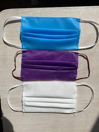 Одноразові маски двошарові сертифіковані, фото 2