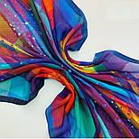 10863-14, павлопосадский платок шерстяной (разреженная шерсть) с швом зиг-заг, фото 3