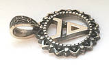 Подвес S60081 Символ Велеса, серебро 925 проба, фото 3