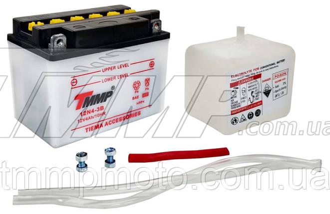 Аккумулятор 12V4a.h. сухозаряженный с электролитом TMMP, фото 2