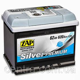 Автомобильный аккумулятор ZAP SILVER PREMIUM 6СТ-62 L+ 620A