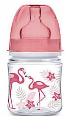Бутылочка антиколиковая с широким горлышком 120 мл коралл Jungle Canpol 35/226