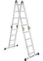 Лестница - трансформер 4*4, алюминиевая шарнирная в Виннице