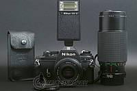 Nikon EM kit Nikon Lens Series E 50mm f1.8 + Nikon SB-E + Image 80-200mm f4.5, фото 1