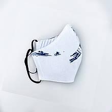 Маска многоразовая тканевая (белая с разводами)