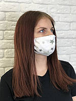 Защитная маска для лица барьерная 3-х слойная Хлопок