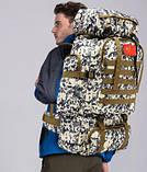 Рюкзак туристический xs1725-2 черный, 70 л, фото 4