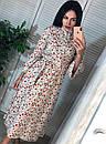 """Шикарное женское длинное платье с пояском """"Брилл"""", фото 9"""