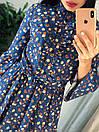 """Шикарное женское длинное платье с пояском """"Брилл"""", фото 7"""
