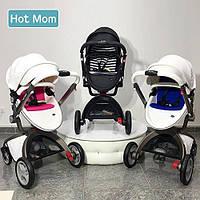 Оригинальная детская коляска 2в1 Hot Mom эко-кожа