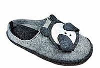 Детские тапочки Белста панда (на фетровой подошве с прорезинкой лапки)