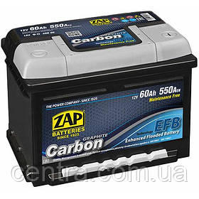 Автомобильный аккумулятор ZAP START-STOP EFB Carbon 6СТ-60 R+ 550A