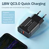 Быстрое зарядное устройство YKZ Quick Charge 3.0 3А 18Вт адаптер питания СЗУ, фото 7