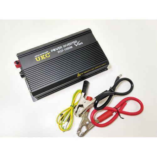 Професійний інвертор перетворювач UKC 12V-220V RCP 1000W