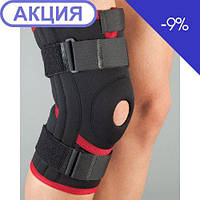 Бандаж на колено неопреновый неразъемный, силиконовое кольцо, 4 спиральных ребра  103 (Aurafix)