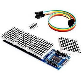 Світлодіодна матриця з 4 матричних дисплеїв на MAX7219 MAX7221 Arduino