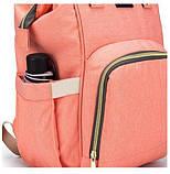 Сумка-рюкзак для мам Baby Bag 5505, бирюзовый, фото 8