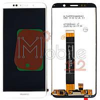 Экран (дисплей) Huawei Y5, Y5 Prime 2018 (DRA-L21 DRA-L22 DRA-L02) Honor 7A DUA-L22 + тачскрин белый