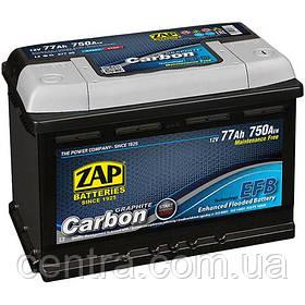 Автомобильный аккумулятор ZAP START-STOP EFB Carbon 6СТ-77 R+ 750A