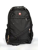 """Водонепроницаемый мужской рюкзак """"Swissgear"""" черный"""