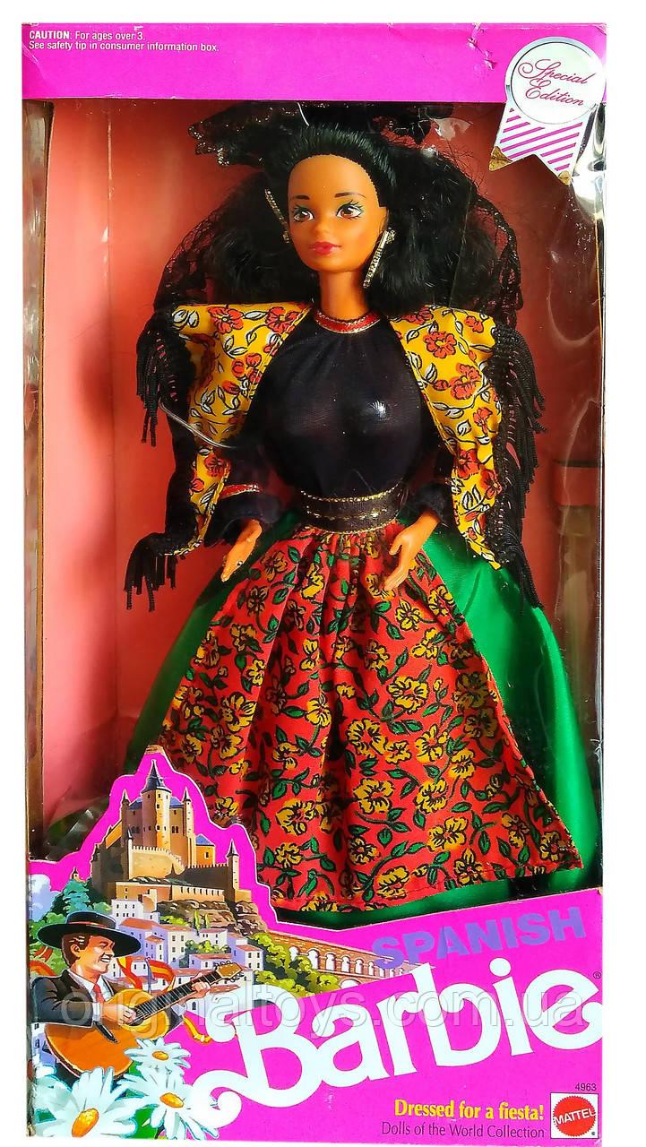 Колекційна лялька Барбі Іспанія Ляльки Світу Barbie Spanish Dolls of the World 1991 Mattel 4963