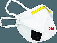 Маска респиратор защита от вирусов с клапаном  3М оригинал Англия