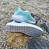 39 размер Женские мятные голубые лазурные кроссовки сетка текстиль слипоны кеды без шнурков  кросівки, фото 2