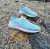 39 размер Женские мятные голубые лазурные кроссовки сетка текстиль слипоны кеды без шнурков  кросівки, фото 3