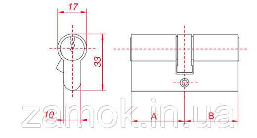 Циліндр Gamet 56б*56 6 ключів