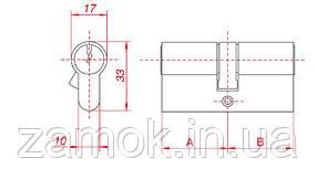 Циліндр Gamet 56б*56 6 ключів, фото 2