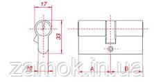 Циліндр Gamet 31*31б 6 ключів, фото 3