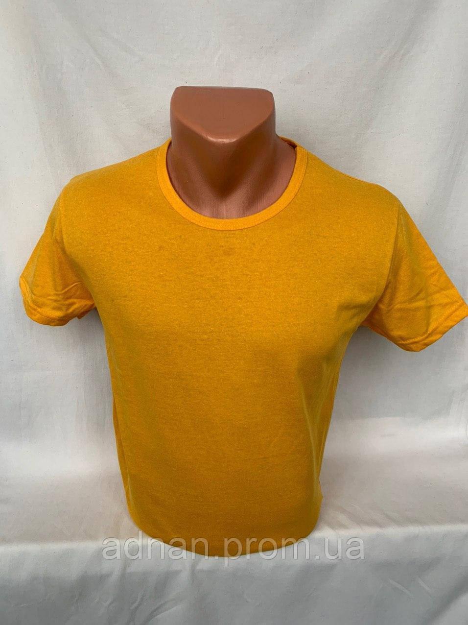 Футболка мужская KLAS 23, х/б однотонная 010 \ купить футболку мужскую оптом
