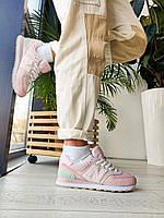 Стильные женские кроссовки New Balance 574 Pink, фото 1