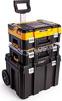 Комплект ящиков DeWALT 2 ящика + ящик-тележка в системе TSTAK (DWST1-81049)
