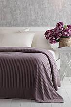 Покрывало велюровое 160x220 Pavia Simone lila темно лиловое
