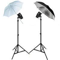 Набір студійного імпульсного світла FST EG-180KA з парасольками (11)
