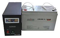 Комплект резервного питания ИБП Logicpower LPY-B-PSW-500 + АКБ LP-MG120 для 10-16ч работы газового котла, фото 1