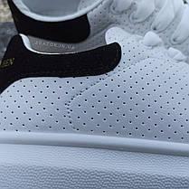 Кроссовки криперы ALEXANDER MCQUEEN |копия| белые на толстой подошве высокие кожаные перфорация, фото 3