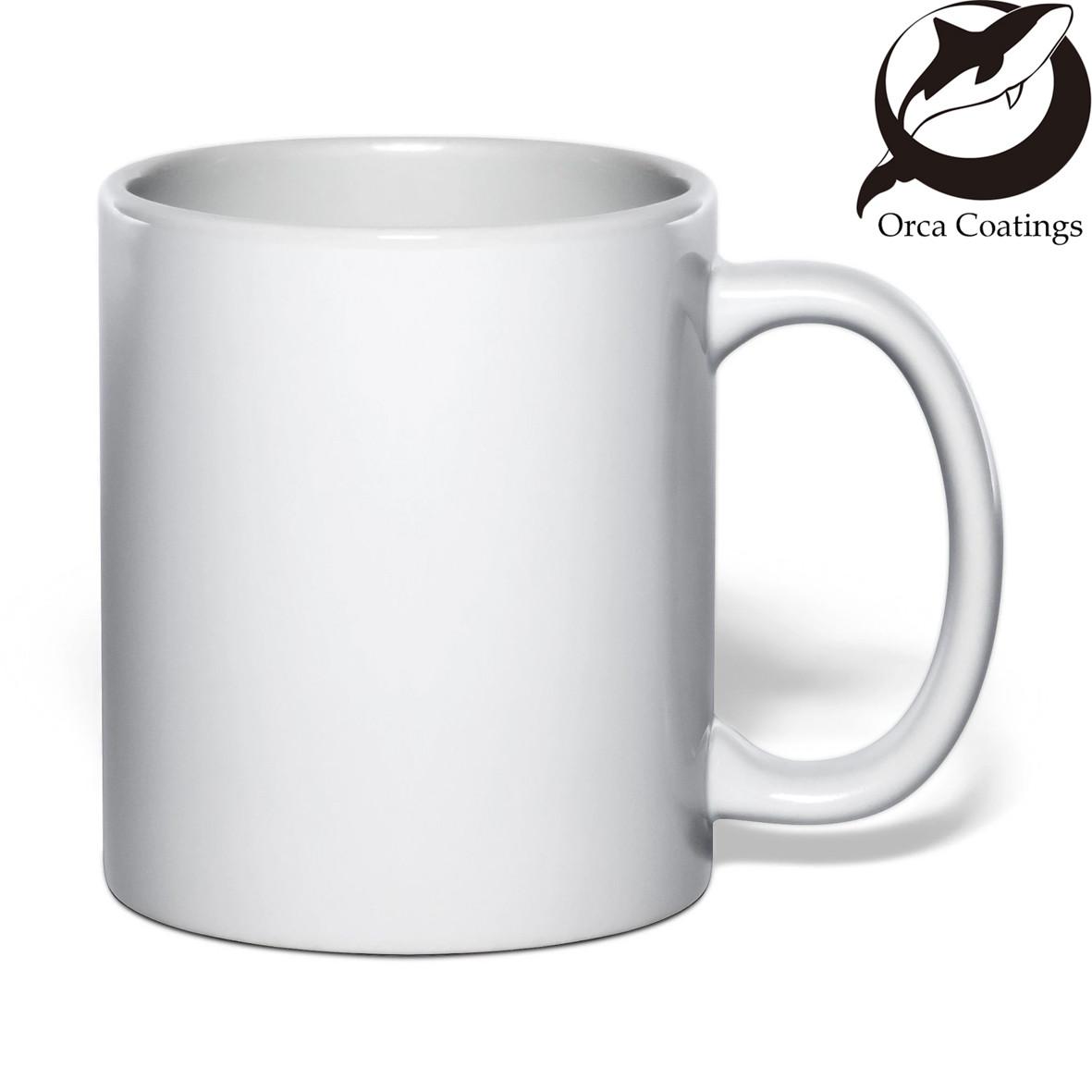 Чашка сублимационная белая Премиум+ (Orca Black)