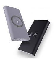 Внешний аккумулятор с беспроводной зарядкой 10000 mAh Power Bank Qi(только серый)