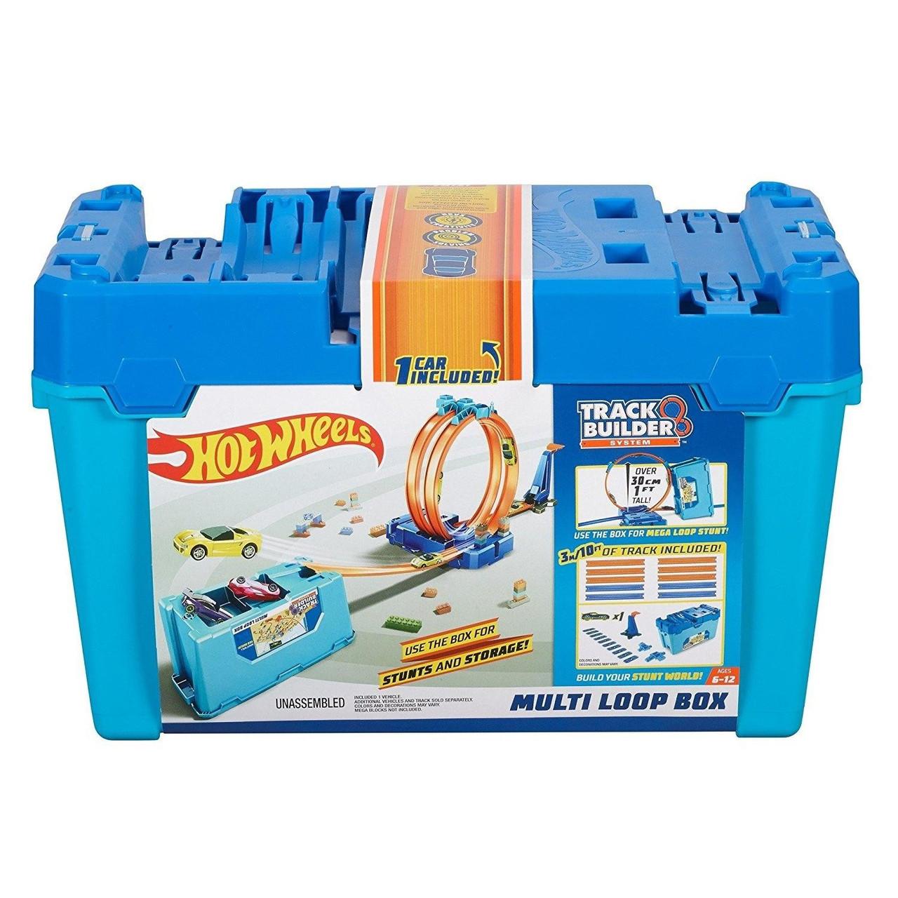 Hot Wheels Track Builder Multi Loop Box Подвійна петля. Хот Вилс Коробка для трюков Двойная петля