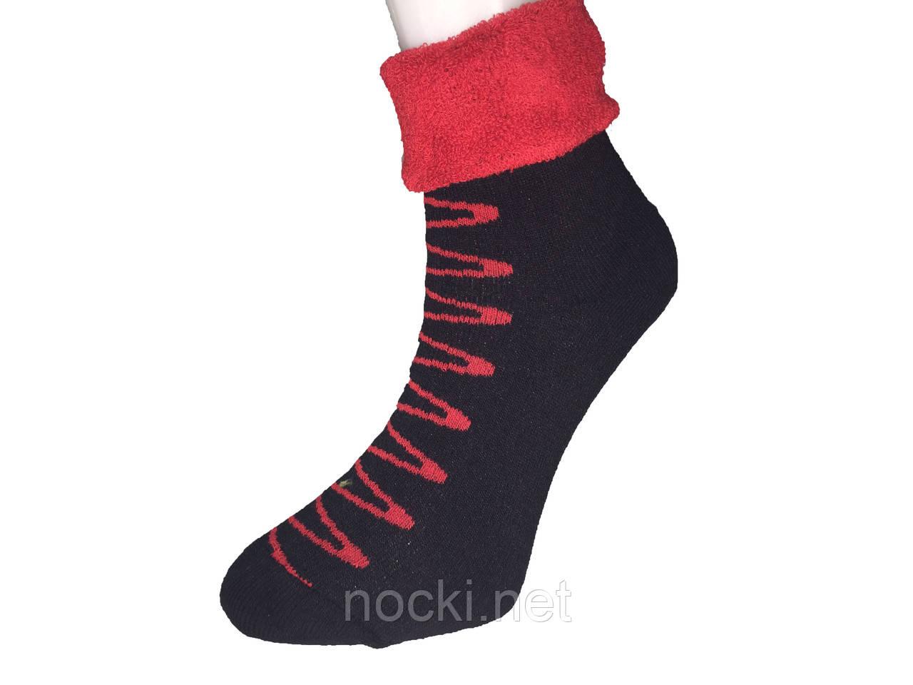 Шкарпетки жіночі махра Tommy відворот зигзаг