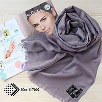Турецкий серый шарф из тонкой пашмины 117002